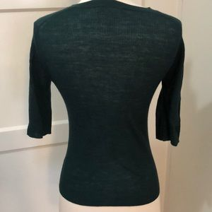 Vince Tops - Vince sweater tee in dark forest green